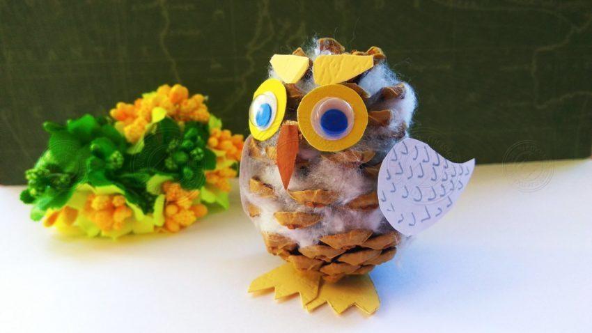 Поделка сова из шишек своими руками: простая и быстрая инструкция по созданию осенней поделки (мастер-класс + фото)