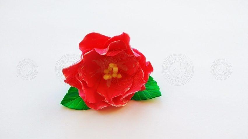 Красный цветок из фоамирана своими руками — инструкция и мастер-класс с фото