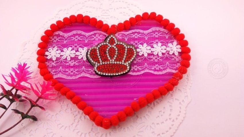 Яркая валентинка из коктейльных трубочек: легкая инструкция, с пошаговым руководством и фото