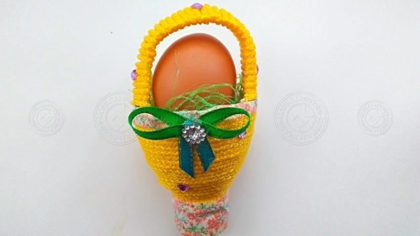 Подставка для пасхального яйца из пластиковой бутылки своими руками — простая инструкция, с описанием и фото