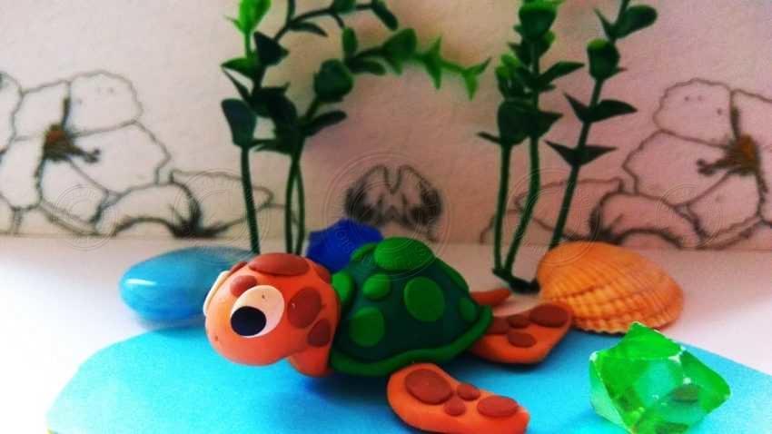 Черепаха из пластилина своими руками: легкая инструкция с фотографиями + мастер-класс для детей
