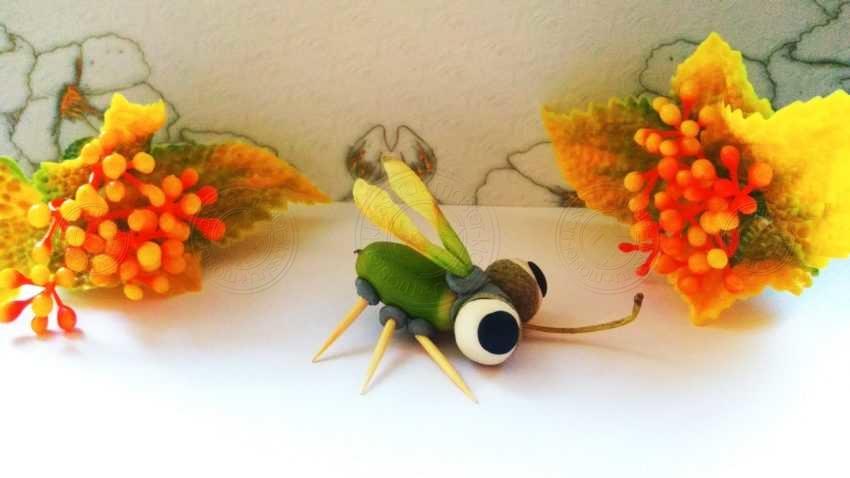 Поделка муха из желудей своими руками: простая инструкция для детей с фото и описанием
