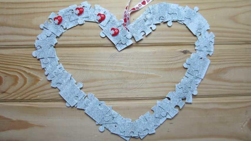Подарок к 14 февраля из пазлов своими руками: мастер-класс с пошаговой инструкцией по созданию оригинального подарка