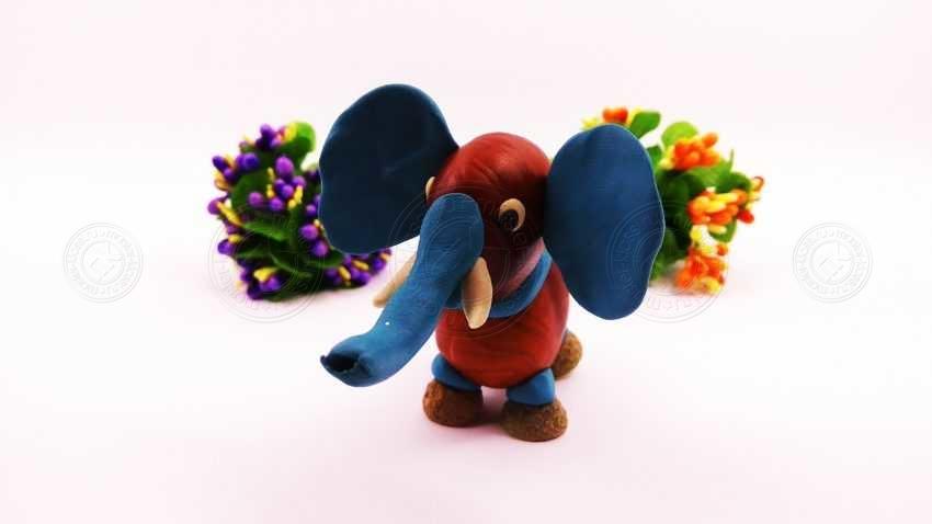 Как слепить слона из каштана и пластилина своими руками? Инструкция по лепке слоника для детей + фото