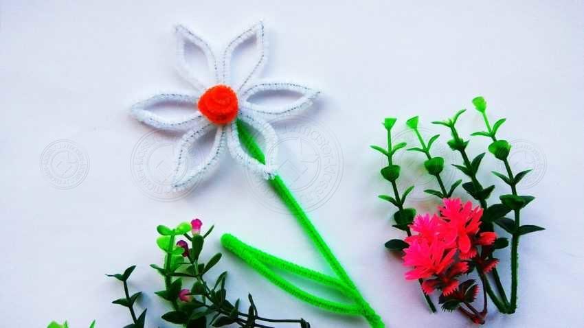 Как сделать цветок нарцисс из синельной проволоки своими руками — легкая, пошаговая инструкция с фото и описанием