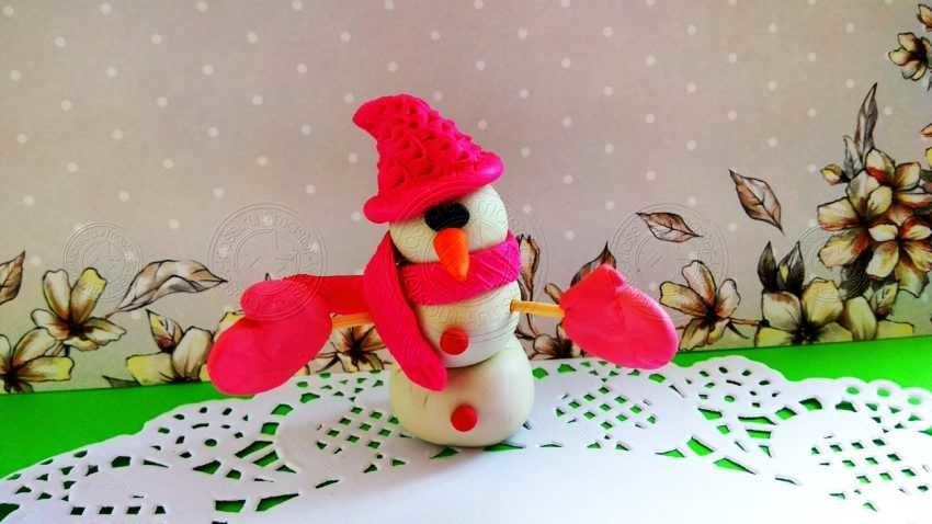 Зимняя поделка снеговик из пластилина своими руками: пошаговая инструкция от А до Я + 20 фото с описанием