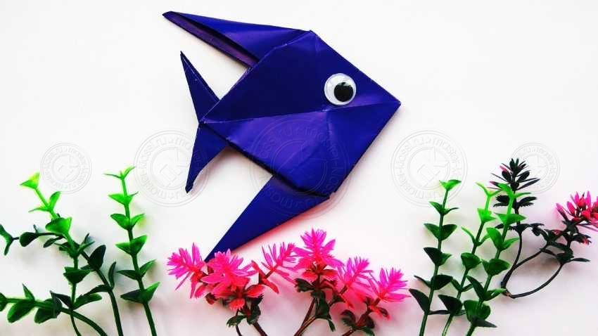 Оригами рыбка — простые схемы для детей. Мастер-класс с пошаговой инструкцией и фото по созданию красивого оригами своими руками
