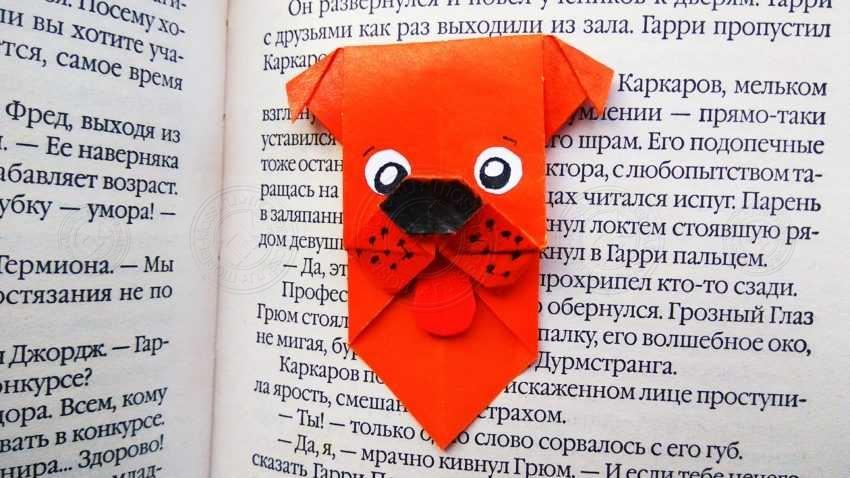 Закладка для книги в виде собачка (техника оригами): инструкция, как сложить своими руками (20 фото + мастер-класс)