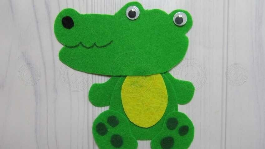 Аппликация Крокодил Гена своими руками — интересный мастер-класс для детей любого возраста в садик или школу (20 фото)