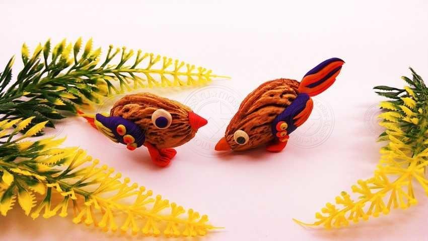 Детская поделка птичка из косточек фруктовых деревьев: инструкция по созданию поделки своими руками (10 фото)