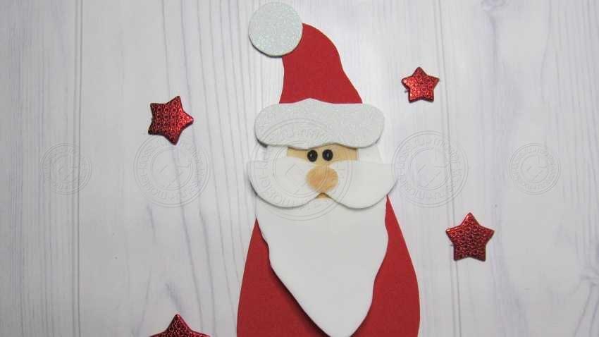 Аппликация Дед Мороз из фоамирана своими руками: подробная инструкция от А до Я. Лучший мастер-класс для детей!