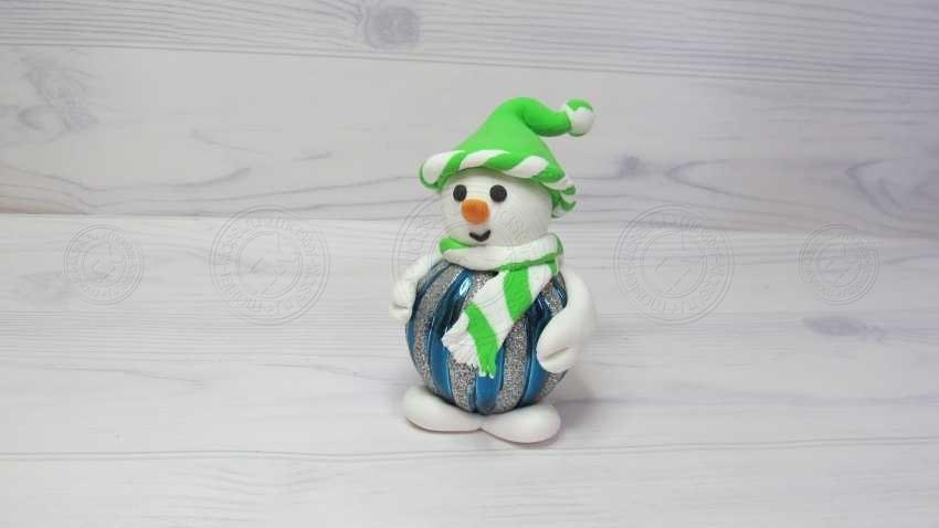 Поделка снеговик из пластилина — готовая схема лепки красивой Новогодней поделки (20 фото + инструкция)