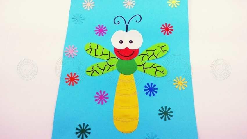 Аппликация для детей — стрекоза из бумаги: простая инструкция + мастер-класс с фото