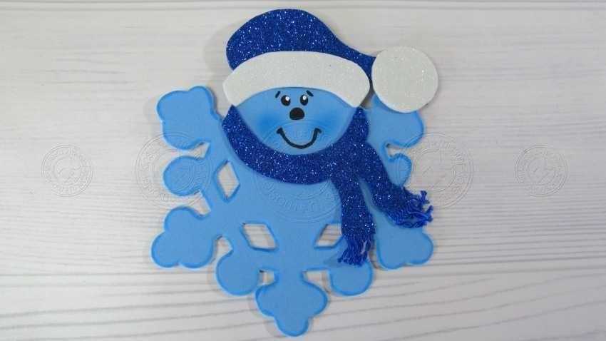 Поделка снежинка из фоамирана своими руками: пошаговая инструкция, шаблон, фото, мастер-класс для детей