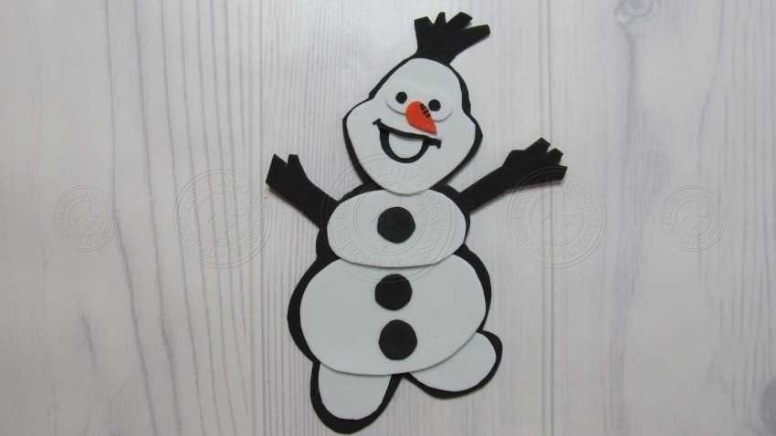 Поделка в школу 4 класс снеговик Олаф своими руками: инструкция от А до Я + шаблон