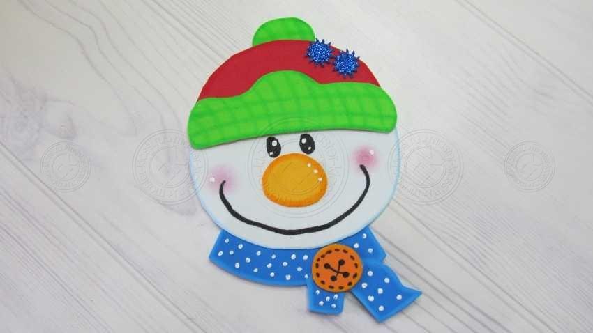 Снеговик из фоамирана своими руками: пошаговая инструкция + мастер-класс для детей с фото и описанием