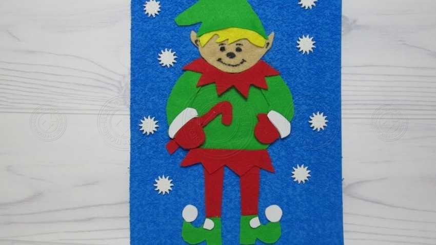 Аппликация сказочный Эльф для детей в школу или садик. Пошаговая инструкция с фото и описанием