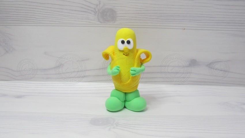 Банан из пластилина: пошаговая инструкция с фото и схемой лепки фруктов из пластилина своими руками (25 фото идей)