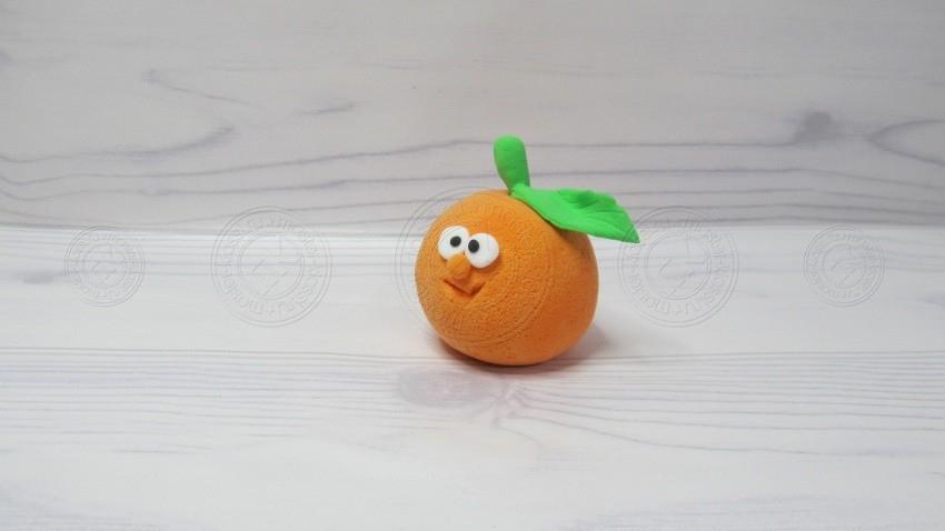 Апельсин из пластилина — легкая инструкция, как сделать фруктовую поделку из пластилина своими руками