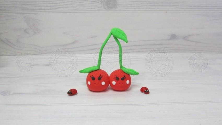 Вишни из пластилина: легкая инструкция для детей с описанием, как слепить необычную ягоду из пластилина своими руками