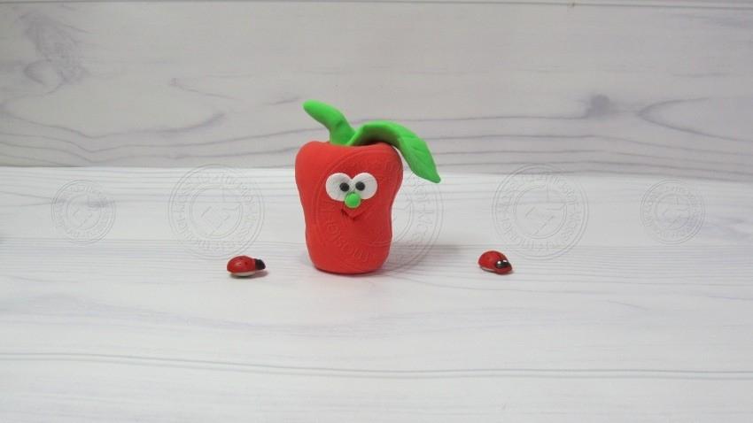 Перец из пластилина — поэтапный урок лепки поделок овощей из пластилина своими руками (25 фото)