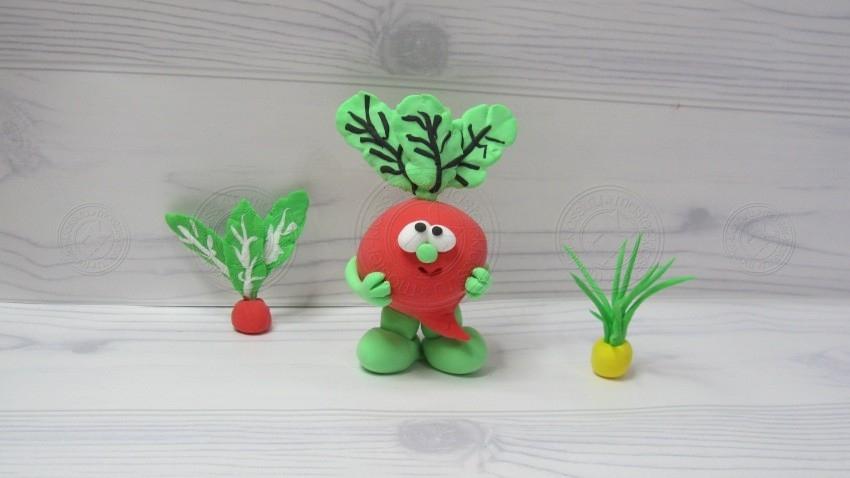 Свекла из пластилина своими руками поэтапно: интересный мастер-класс для детей по лепке овощей из пластилина