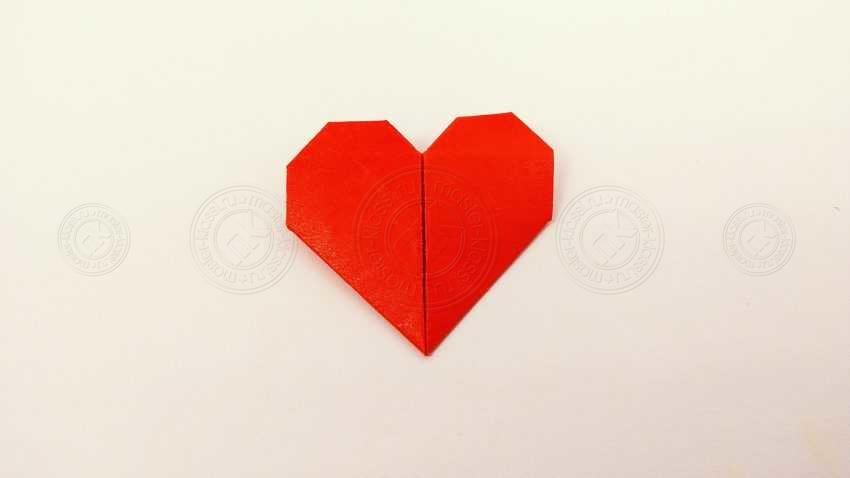 Как сделать сердце-оригами из бумаги: мастер-класс для начинающих с фото и описанием