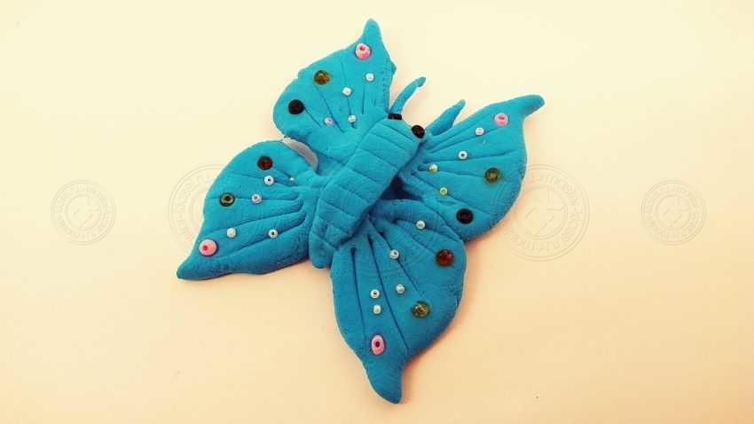 Бабочка из легкого пластилина своими руками — пошаговая инструкция с фото и описанием (мастер-класс для детей)