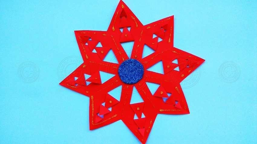 Красная снежинка из бумаги своими руками — инструкция по созданию оригинального украшения на Новый Год