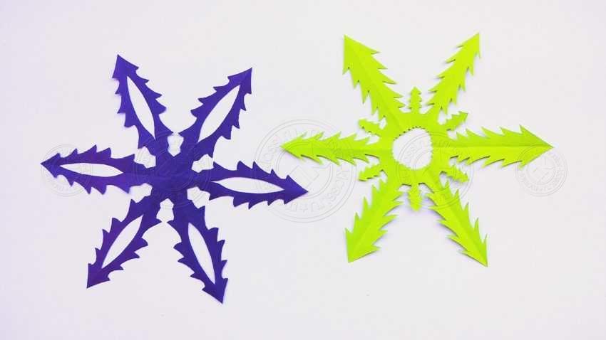 Снежинки-елочки из бумаги: легкая инструкция по вырезанию своими руками