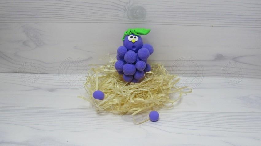 Виноград из пластилина поэтапно: легкий мастер-класс для детей с фото и описанием
