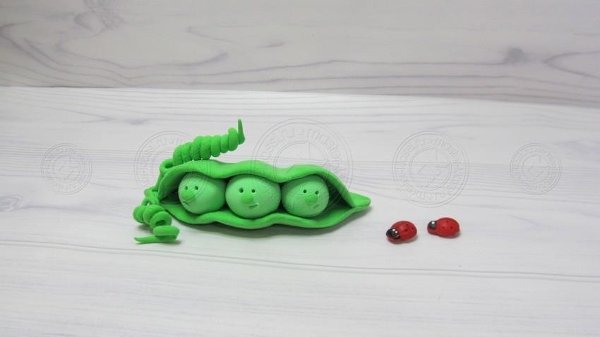 Горох из пластилина — инструкция, как слепить своими руками, интересную овощную поделку из пластилина