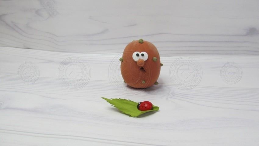 Картофель из пластилина — учимся лепить овощные поделки из пластилина. Мастер-класс для детей любого возраста!