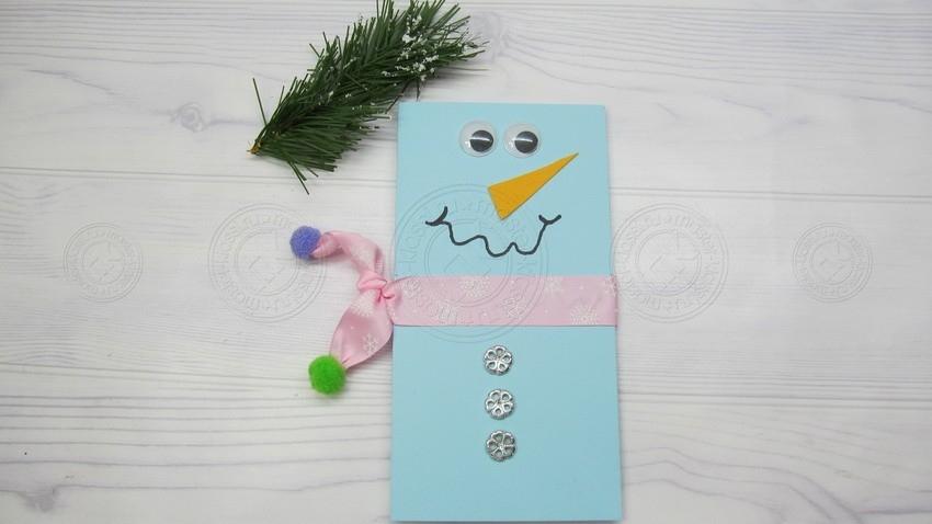 Новогодняя открытка снеговик своими руками поэтапно: легкая инструкция по созданию оригинальных праздничных открыток
