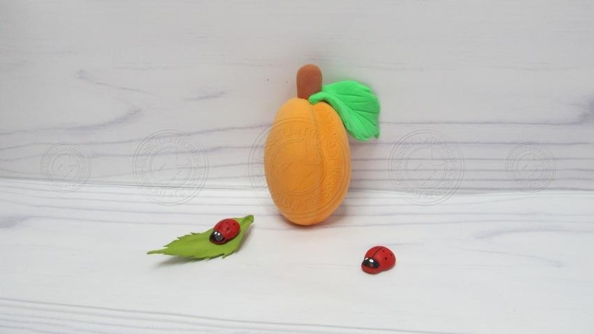 Абрикос из пластилина своими руками: пошаговая инструкция, как слепить интересную, фруктовую поделку из пластилина