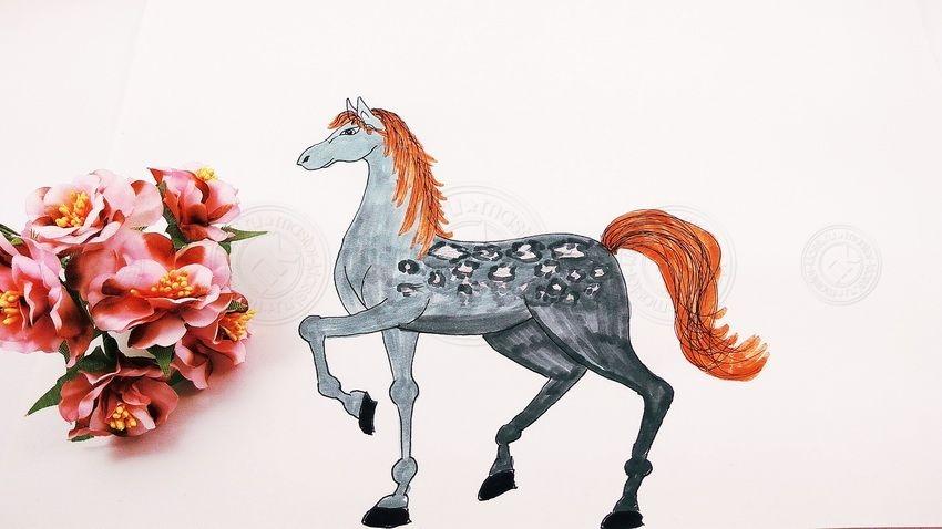 Как нарисовать лошадь поэтапно своими руками: легкий мастер-класс по рисованию для детей