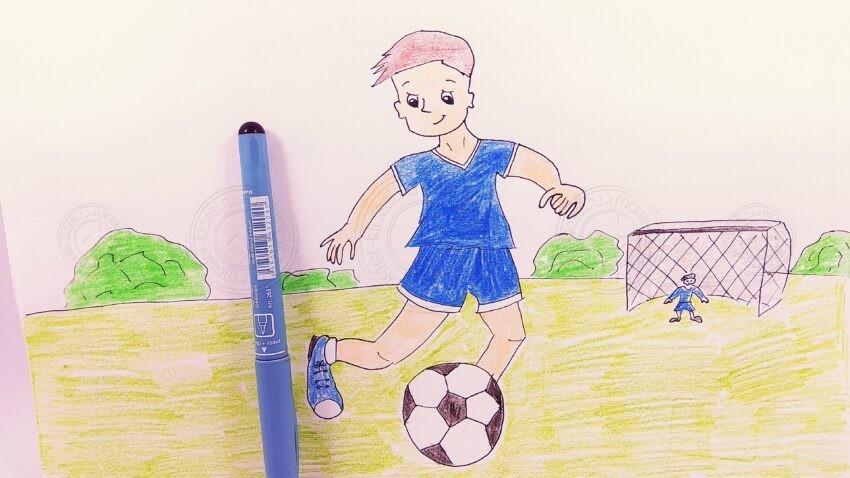 Как нарисовать футболиста поэтапно карандашами: интересный мастер-класс для детей с описанием схемы создания рисунков своими руками