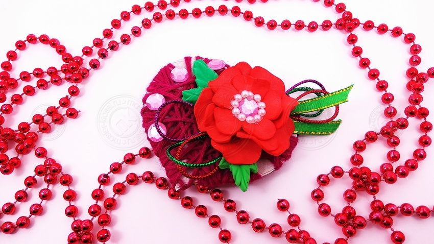 Валентинка из ниток на 14 февраля своими руками — учимся делать красивый подарок
