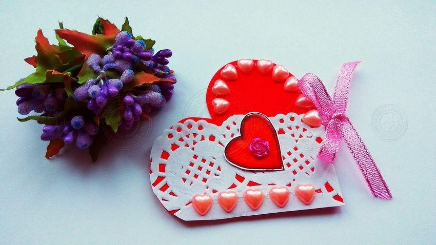 Открытка-валентинка своими руками — красивый презент на день Всех Влюбленных