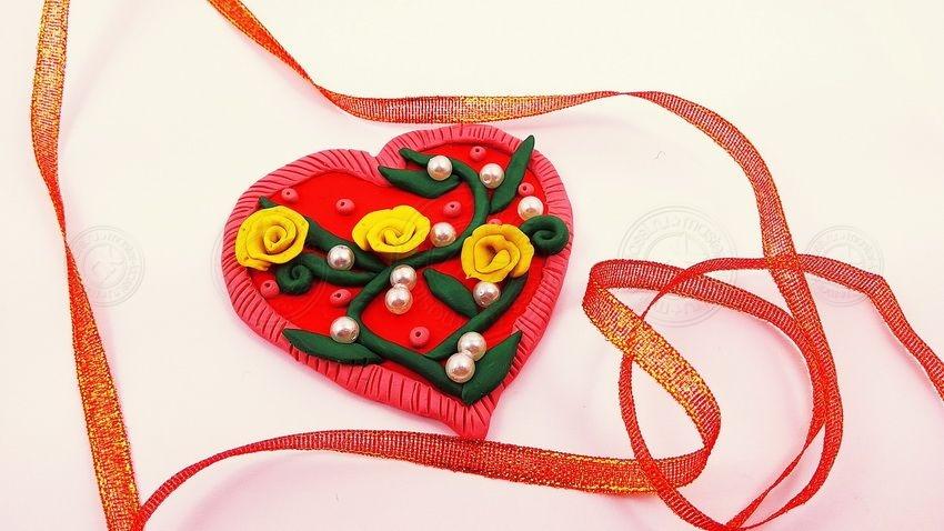 Валентинка из пластилина своими руками — легкий мастер-класс по созданию поделок на 14 февраля