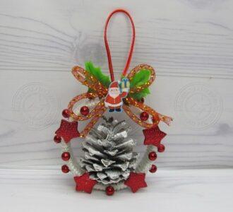 Новогодняя игрушка из бобины от скотча: легкая инструкция, как сделать оригинальное украшение на Елку своими руками
