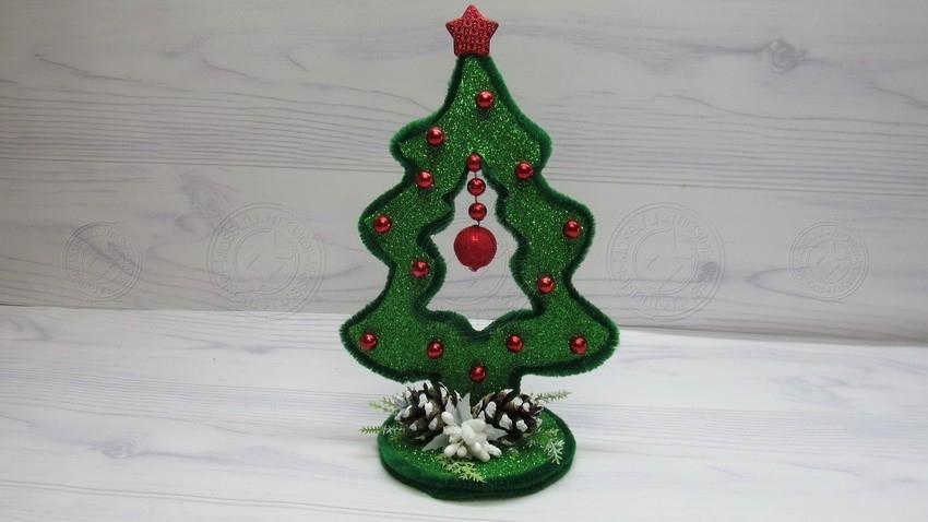 Новогодняя елка — поделка своими руками поэтапно. Легкий мастер-класс с фото, шаблонами и описанием