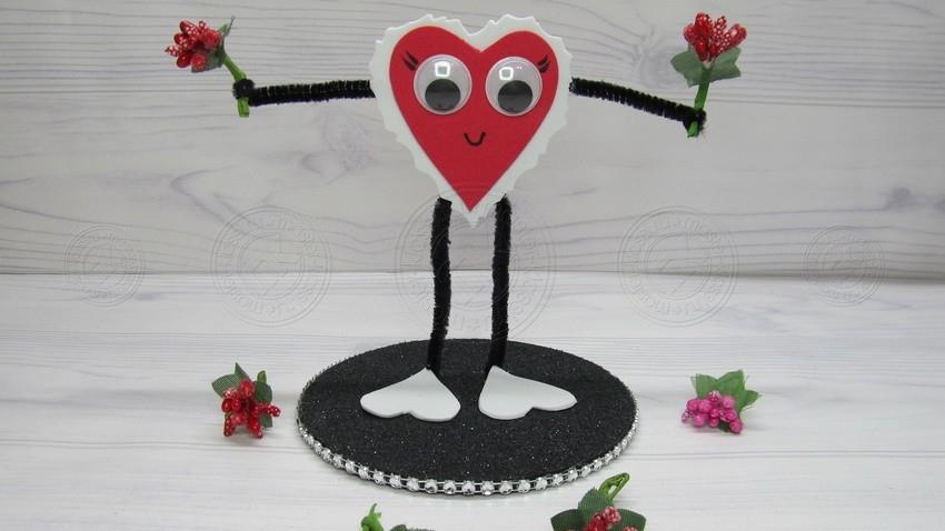 Валентинка на 14 февраля своими руками поэтапно: красивый вариант подарка на день св. Валентина