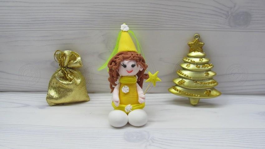 Новогодняя Фея — красивая поделка для детей. Урок создания украшения на Новый Год 2021